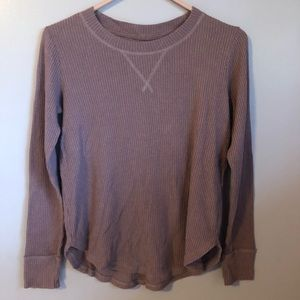 Abercrombie and Fitch Ribbed Long Sleeve Cozy Tee